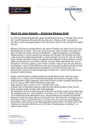 Oratorium Nikolaus Groß - Die Duisburger Philharmoniker