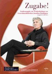 Zugabe Ausgabe Nr. 9, Mai 2011 - Die Duisburger Philharmoniker