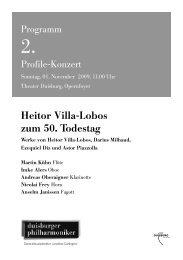 Heitor Villa-Lobos zum 50. Todestag - Die Duisburger Philharmoniker