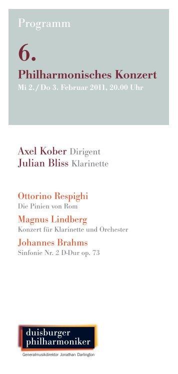 6. Philharmonisches Konzert - Die Duisburger Philharmoniker