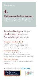 Programmhefte - Die Duisburger Philharmoniker
