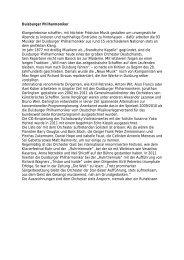 Kurzbiographie - Die Duisburger Philharmoniker