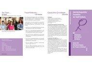 Flyer des Referats für Gleichstellung und Frauenbelange - Duisburg