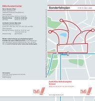 Sonderfahrplan - DVG Duisburger Verkehrsgesellschaft AG