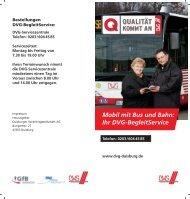 DVG-BegleitService - DVG Duisburger Verkehrsgesellschaft AG