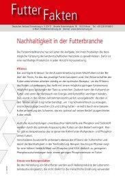 Nachhaltigkeit in der Futterbranche - Deutscher Verband ...