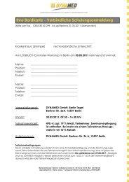 Anmeldung & Themen für den LOGBUCH ... - DYNAMED GmbH