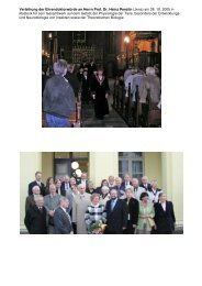 Verleihung der Ehrendoktorwürde an Herrn Prof. Dr. Heinz Penzlin ...