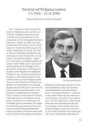 Nachruf auf Wolfgang Lueken 7.4.1932 - 15.12.2009