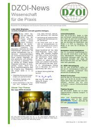 DZOI Newsletter 1 2011 - Deutsches Zentrum für orale Implantologie ...