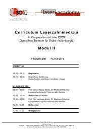 Ablaufplan Modul II.fh - Deutsches Zentrum für orale Implantologie eV