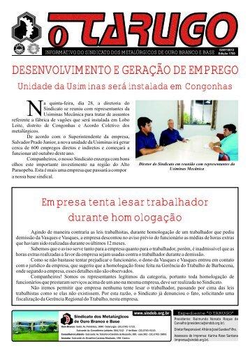 Edição Nº 1700 - Sindicato dos Metalúrgicos de Ouro Branco e ...