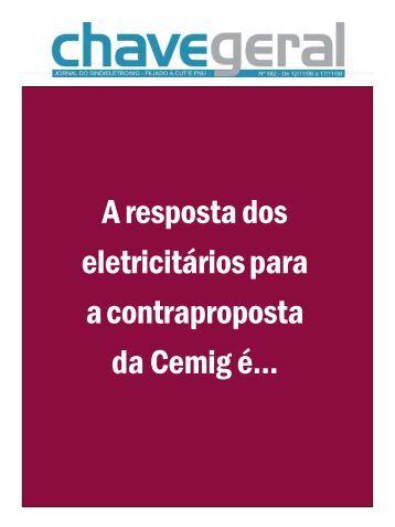A resposta dos eletricitários para a contraproposta ... - sindieletro-mg