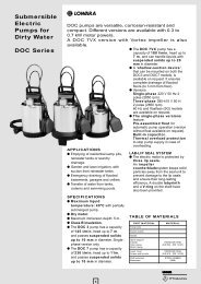 Submersible Electric Pumps for Dirty Water DOC Series