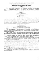 Proposta de Contrato Colectivo de Trabalho - Sindicato dos ...