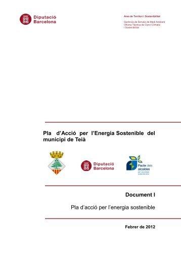 Pla d'Acció per l'Energia Sostenible del municipi de Teià Document I