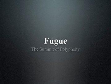 Fugue - Scott Foglesong