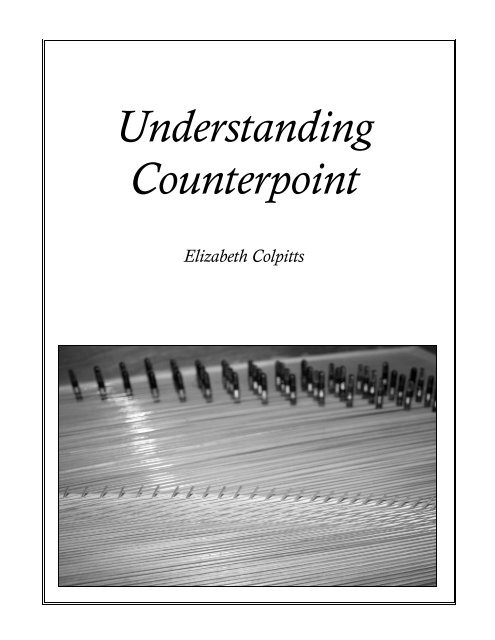 Understanding Counterpoint - WEYMOUTH BANDs