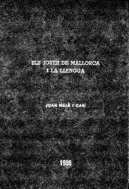 m - Biblioteca Digital de les Illes Balears - Universitat de les Illes ...