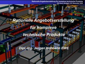 Rationelle Angebotserstellung für komplexe technische Produkte