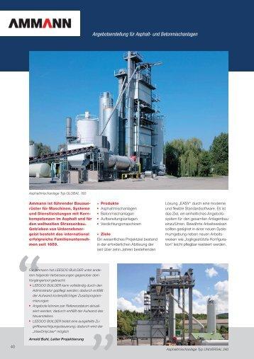 Angebotserstellung für Asphalt- und Betonmischanlagen