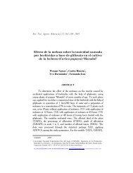 Efecto de la melaza sobre la toxicidad causada por herbicidas a ...