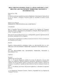 reglamento general para la aplicación de la ley orgánica ... - VERTIC