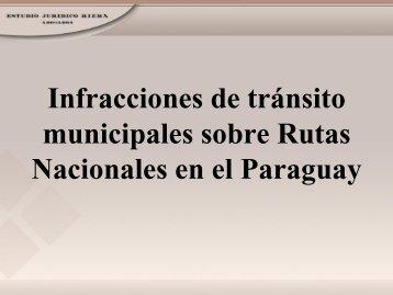 Infracciones de tránsito municipales sobre Rutas Nacionales e ...