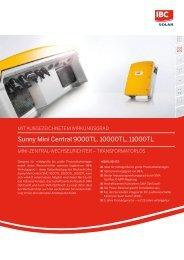 Sunny Mini Central 9000TL, 10000TL, 11000TL