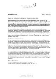 Medienmitteilung Sichere Städte 2025 - Ernst Basler + Partner AG
