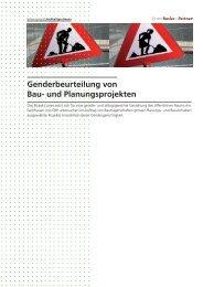 Genderbeurteilung von Bau- und Planungsprojekten