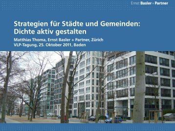 Strategien für Städte und Gemeinden: Dichte aktiv gestalten