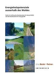 Energieholzpotenziale ausserhalb des Waldes - Ernst Basler + ...