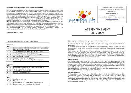 Schulpost 2 20.10.2009 - Elsa-Brändström-Realschule Essen