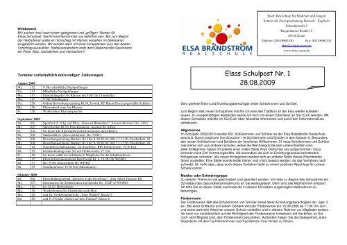 Schulpost 1 28.09.2009 - Elsa-Brändström-Realschule Essen