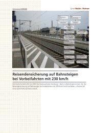 Reisendensicherung auf Bahnsteigen bei Vorbeifahrten mit 230 km/h