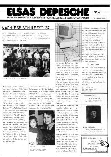 Elsas Depesche Nr. 4 - Elsa-Brändström-Realschule Essen