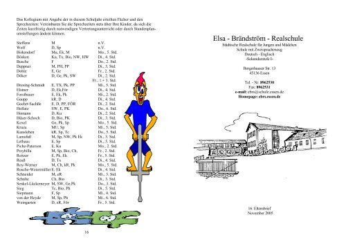 16. Elternbrief (11/2005) - Elsa-Brändström-Realschule Essen