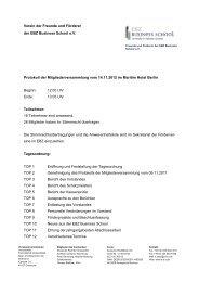 Verein der Freunde und Förderer der EBZ Business School e.V. ...