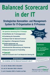Balanced Scorecard in der IT - ECG Management Consulting GmbH