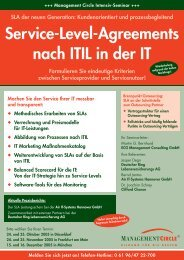 Service-Level-Agreements nach ITIL in der IT - ECG Management ...