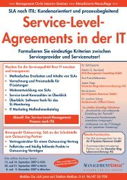 Service-Level-Agreements in der IT - ECG Management Consulting ...