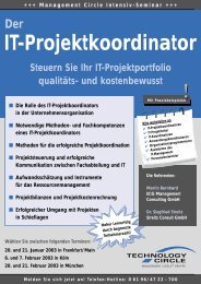 IT-Projektkoordinator - ECG Management Consulting GmbH