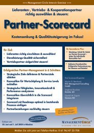 Partner-Scorecard - ECG Management Consulting GmbH