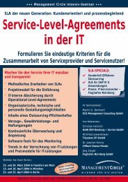 +++ Management Circle Intensiv-Seminar +++ Service-Level ...