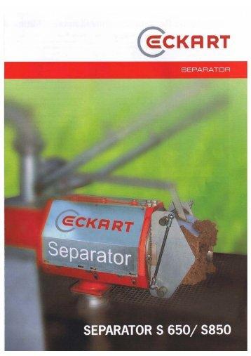 Seperatoren - Eckart Maschinenbau