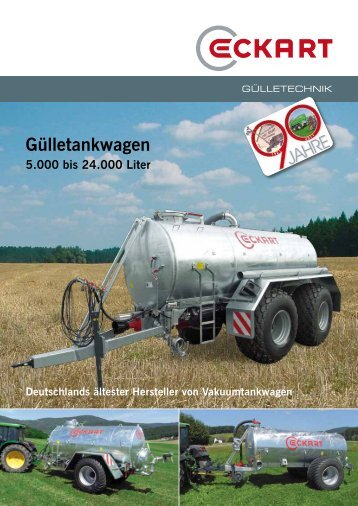 Vakuum-/Pumptankwagen - Eckart Maschinenbau