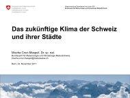 Das zukünftige Klima der Schweiz und ihrer Städte