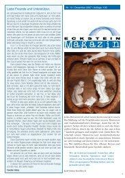 Magazin Nr. 13 - Horizonte Weltweit eV Eckstein