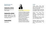 Überblick über den Seminarinhalt Inhalt - Horizonte Weltweit eV ...